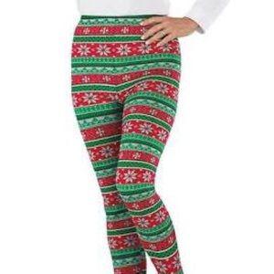Christmas Knit Print Holiday Christmas Leggings SS